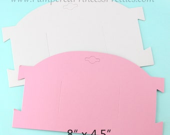 White OUT of stock, Set of 10- Blank Headband Cards/Bow Cards- Pink
