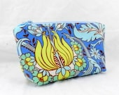 Amy Butler, Cosmetic Bag, Temple Tulips, Make-Up Bag, Clutch Purse, Bridesmaid Gift, Christmas Gift, Birthday Present, Shower Gift