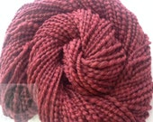 Hand Spun Super Wash Merino Wool Blend Mulberry Yarn 88 yards