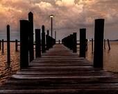 Havre De Grace, MD Pier at Sunset 8x10 Inch Photo Print