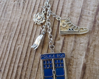 Doctor Who Tenth Doctor Inspired Charm Key Chain