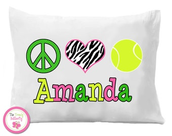 Tennis Pillow Case ,  Tennis Personalized Pillow Case