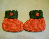 Baby Booties 6 to 12 Months, Halloween Booties,Babies first Trick or Treat Booties