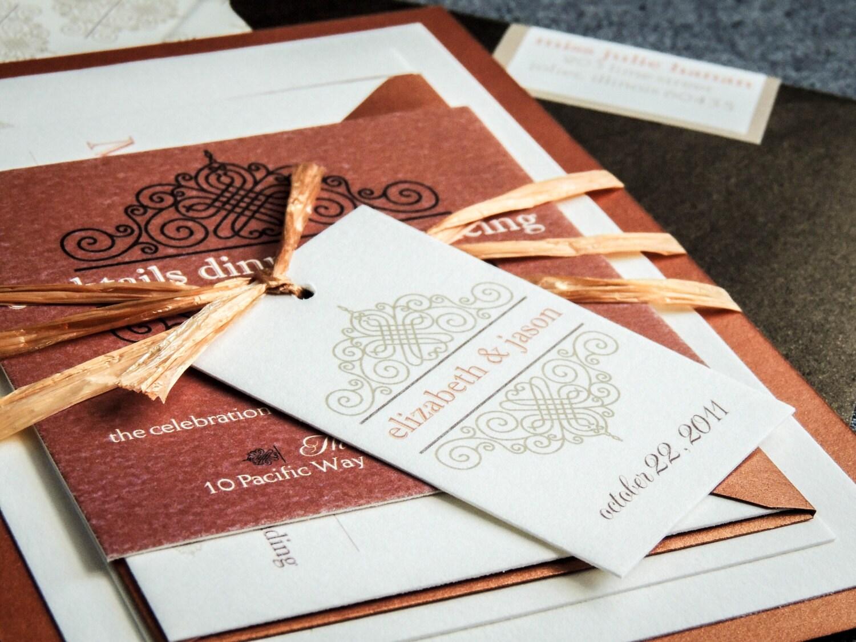 Tuscan Themed Wedding Invitations: Vintage Wedding Invitations Tuscan Wedding By JulieHananDesign