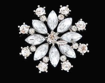 Rhinestone Brooch Embellishment - Flatback - Embellishment Buttons - Brooch Bouquets - Broach Bouquet Supplies - DIY Wedding - Jewelry RD249