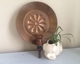 Copper Wall Sconce / Copper Decor / Vintage Copper / Copper Candle Holder
