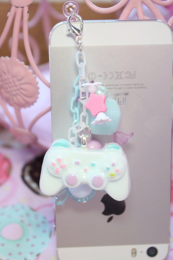 Fairy Kei Game Controller Headphone Jack  Phone Charm MADE TO ORDER