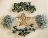 Star Bead Soup Assortment of Stars in Green and Gold