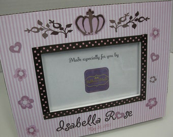 Baby Girl Personalized Frame Designed to accompany Daniella by Cocalo.