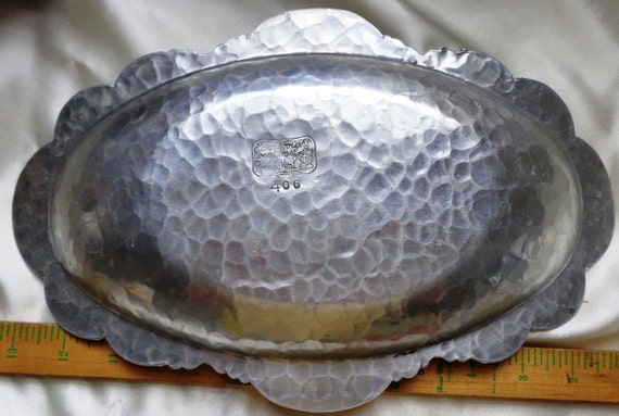 Vintage Rodney Kent Silver Co Tulip Dish 406 Hand By Lavogue