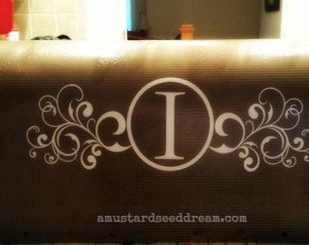 Personalized Mailbox Decal with Last Name Initial and Address - Vinyl Wall Art, Graphics, Lettering, Decals, Stickers