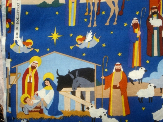"""Alexander Henry """"prince of peace"""" blue fabric 2003 FQ or more"""