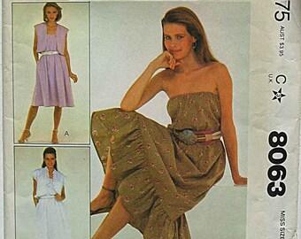 RARE McCalls 8063 Sewing Pattern Misses' Jacket and Dress, UNCUT Size Petite 6-8