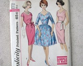 Vintage Pattern Cocktail Dress Pattern Big Puffy Skirt or Wiggle Skirt Simplicity 4347 Size 16 Bust 36 Madmen Dress Up