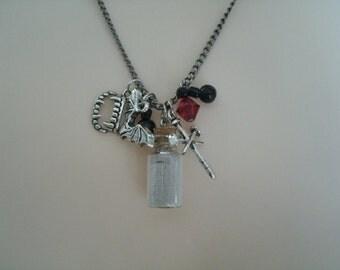 Vampire Necklace, gothic jewelry goth jewelry vampire jewelry halloween jewelry fantasy steampunk