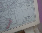 Oceania, Australia, Borneo, Philippines, Hawaii, Fiji, Siam - 1915 Map - lovely pastel colors - Hammond