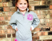 Youth Quarter Zip Monogrammed Pullover