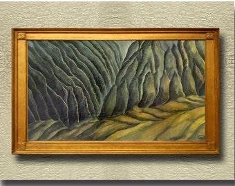 The Valley - Fine Art Print on heavy Cotton Canvas - unframed