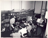 TELEPHONE OPERATORS at WORK in 8 x 10 Photo Circa 1950s