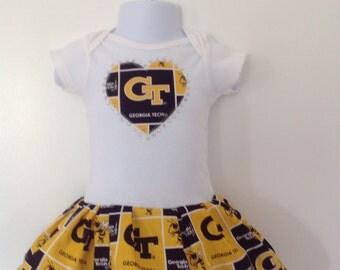Georgia Tech Inspired Infant Dress