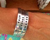 Super Sale--Single Name or Word Skinny Cuff Bracelet