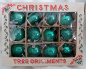 Vintage Christmas Tree Glass Ornaments from Poland in Original Box
