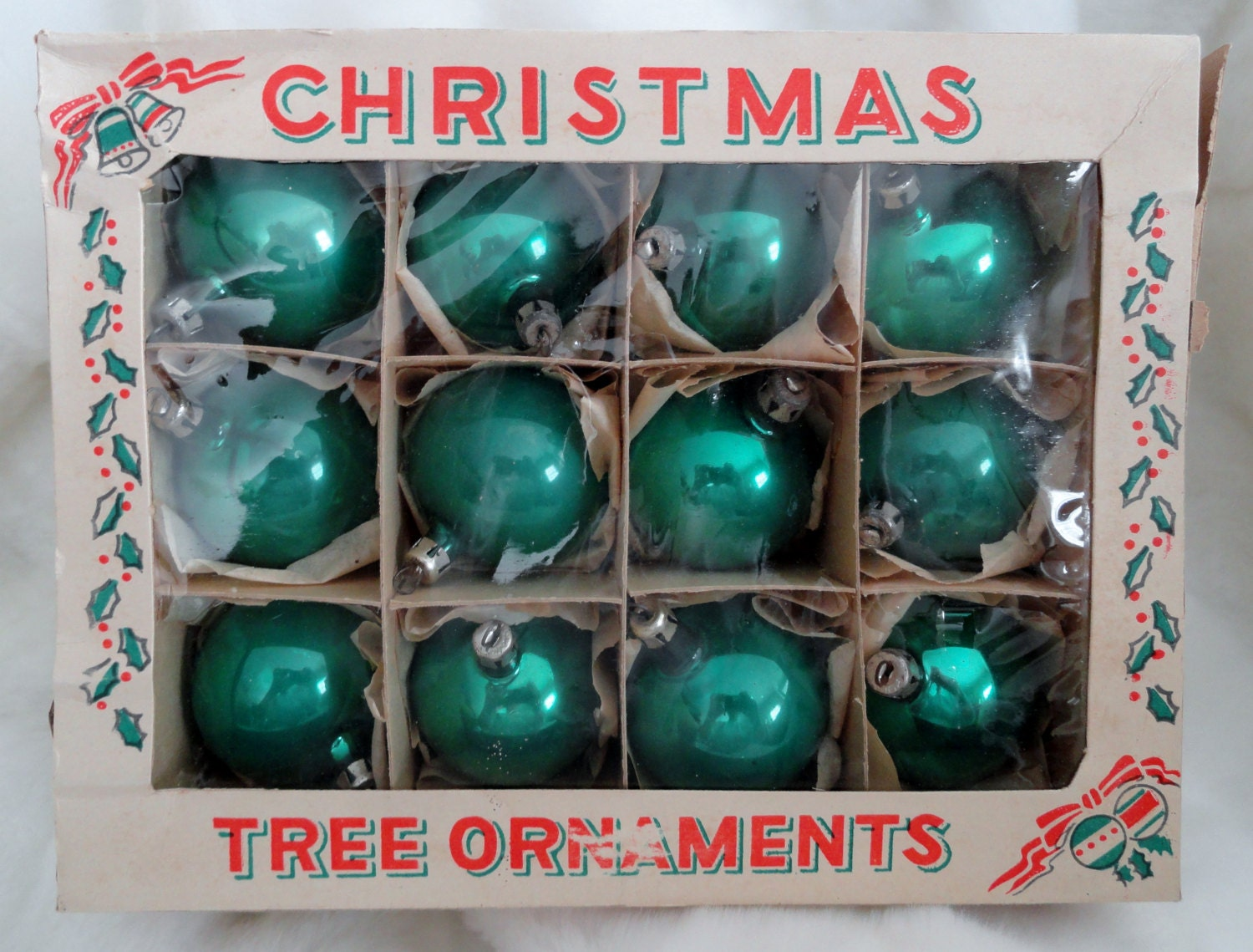 Vintage christmas tree glass ornaments from poland in original Vintage glass christmas tree ornaments