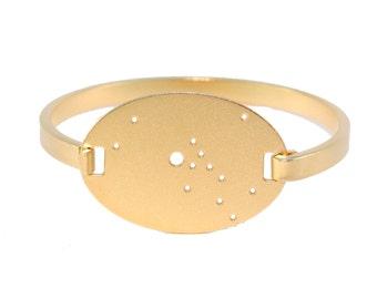 Taurus Gold Flash Constellation Hinged Bracelet
