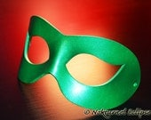 Green Masquerade Leather Mask Adult Superhero Fetish Halloween Cosplay Costume Party Unisex - Available In Any Basic Color