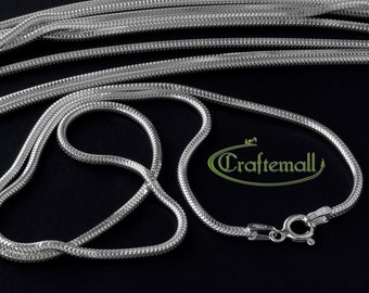 """18"""" Sterling silver chain - seamless snake chain 1.9mm eight-sided VCSL18X19"""