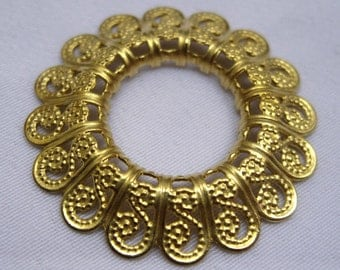 10pcs Brass Filigree Findings for Jewelry Making Golden Decorations for Fashion Design bf088