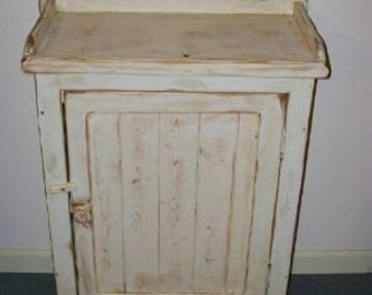 Primitive Dry Sink, Storage Cabinet,  Distressed Cabinet