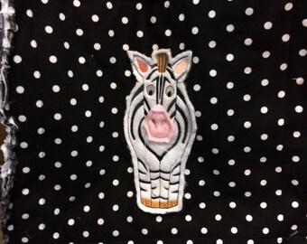 Zebra ragg bag