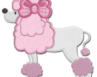 Paris poodle applique for Poodle skirt applique template