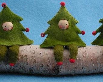 Three Christmas Trees Kit-  Pattern, Sewing