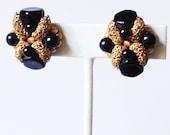 50s beaded earring