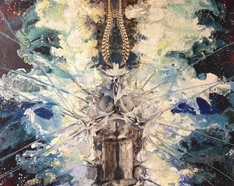 "Painting ""Celestial Cathedral, 2014"""