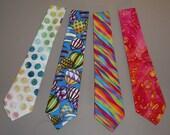 Novelty Neck Tie Necktie Rainbow Stripes Batik Cotton Blend Mens Dressy Casual Sporty Fashion Apparel Wedding Father Gift 03