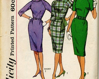 Vintage Misses; One Piece Dress With Sleeve Variations Sewing Pattern - Simplicity 4051 - Size 14 - Bust 34