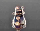Fenced in-Lampwork glass focal bead-handmade-SRA-LE-OOAK-leteam