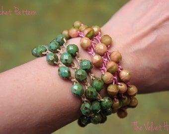 Beaded Bracelet Pattern, Crochet Bracelet Pattern, Jewelry Tutorial (25)