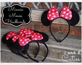 10 Minnie Mouse Ear Headband Birthday Party Favors or Costume