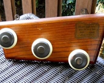 Retro Wooden Bakelite Door Knob Hanger Ties Belts Jewelry 1960s