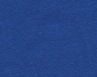 Solid Royal Blue 4 Way Stretch 9oz Cotton Lycra Jersey Knit Fabric, 1 Yard