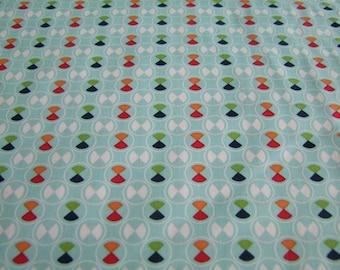 Blue Vintage Circles Blue Background Fabric by the Yard Vintage Happy Lori Holt Riley Blake Designs