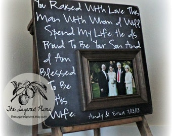 Wedding Frame For Parents, Parents Thank You Gift, Thank You Parents Wedding, Parents Wedding Gift 16x16 The Sugared Plums Frames