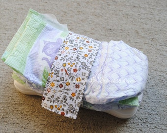 READY TO SHIP Vintage Flowers Diaper Strap