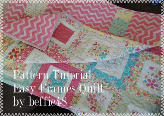 Easy Frames Quilt Tutorial, Use Charm Pack, Jelly Roll, Honey Bun from beffie48 on Etsy Studio