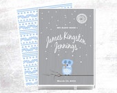 Owl Baby Memory Book comes Personalized for documenting baby's first year