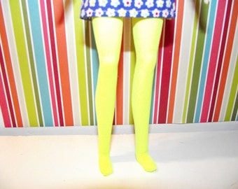 Bright yellow tights leggings for Pullip doll